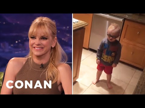 Anna Faris Is Giving Her Son Acting Lessons  - CONAN on TBS