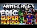 EPIC SUPERHERO MOD!!! - Project Superhero Mod - 8 Superheros in MCPE - Minecraft PE (Pocket Edition)