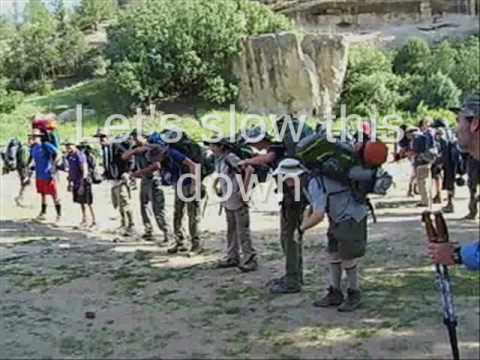 Philmont Packflip at Ponil - How to Wear a Backpack