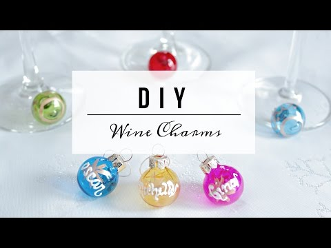 DIY Wine Glass Charms - Dollar Store Holiday Gift Favour!