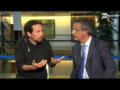 Pablo Iglesias es entrevistado por la RAI (en italiano).
