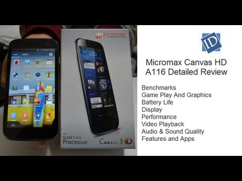 Micromax Canvas HD A116 Review- Benchmarks. Gaming. Performance. Display. Box Contents