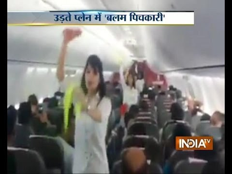 Watch Spicejet Cabin Crew Spicing Up Holi With Dance Inside Aircraft Aisle video
