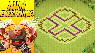TH6 Farming Base ANTI EVERYTHING With Air Sweeper | Clash Of Clans Town Hall 6 Defence + REPLAYS!