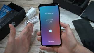 LG V40 ThinQ Aurora Black Unboxing and Overview