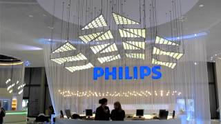 Philips OLED lighting kinetic installation
