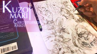Speed Drawing - Kaneki Ken | TOKYO GHOUL | FULL PAGE | Anime Manga Sketch