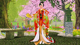 Japanese Fan Dance Jaily Bailey Second Life