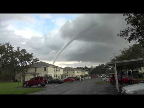 Waterspout Tornado in Oldsmar, Florida - Tampa Bay 7/8/13