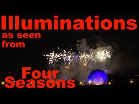 Epcot Illuminations Fireworks from Four Seasons at Walt Disney World