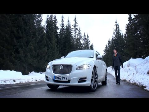 Jaguar XJL Race with Skier in Meribel Top Gear Style