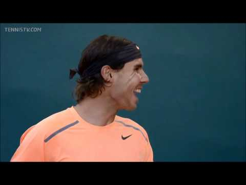 Rafael Nadal gets scared by thunder :)