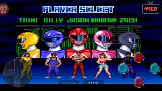 5 Anh Em Siêu Nhân biến hình đánh quái - cu lỳ chơi game power rangers snes