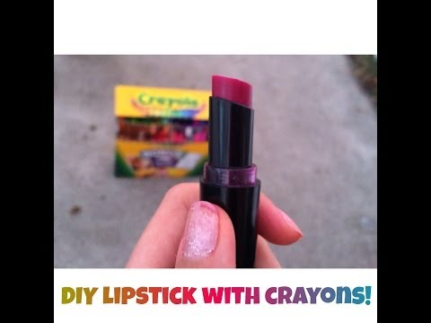 DIY lipstick with crayons!!