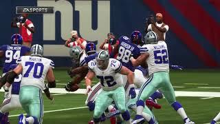 MADDEN NFL 19 - Dallas Cowboys vs New York Giants Full Match   Xbox One X (4k 60fps)