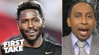 Antonio Brown 'embarrassed' himself with helmet issue, not worth the drama - Stephen A. | First Take