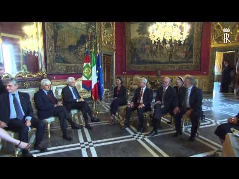 Roma - Consegnata al Presidente Mattarella la dichiarazione più integrazione (14.09.15)