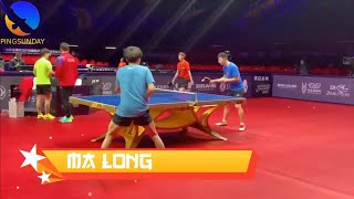 Ma Long, Xu Xin, Fan Zhendong at 2019 ITTF World Tour Grand Finals
