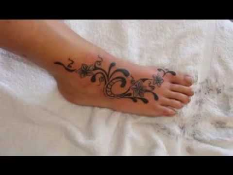 Ideas del pie del tatuaje para las mujeres - YouTube