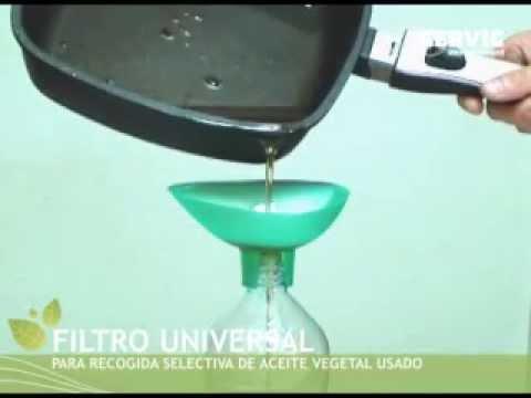 RECICLAJE: Filtro Universal de aceite vegetal usado