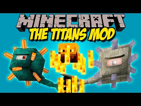 THE TITANS MOD - Mas bosses Gigantes! - Minecraft mod 1.8 Review ESPAÑOL