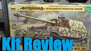 Kit review: Zvezda Jagdpanzer Ferdinand in 1/35 scale