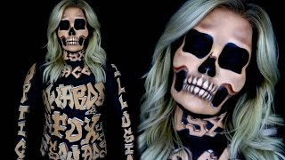 3D Wood Carved Skeleton Optical Illusion - NYX FACE AWARDS | Brianna Fox