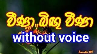 Veena bingu veena Karaoke  (without voice) වීණා බිඟු වීණා