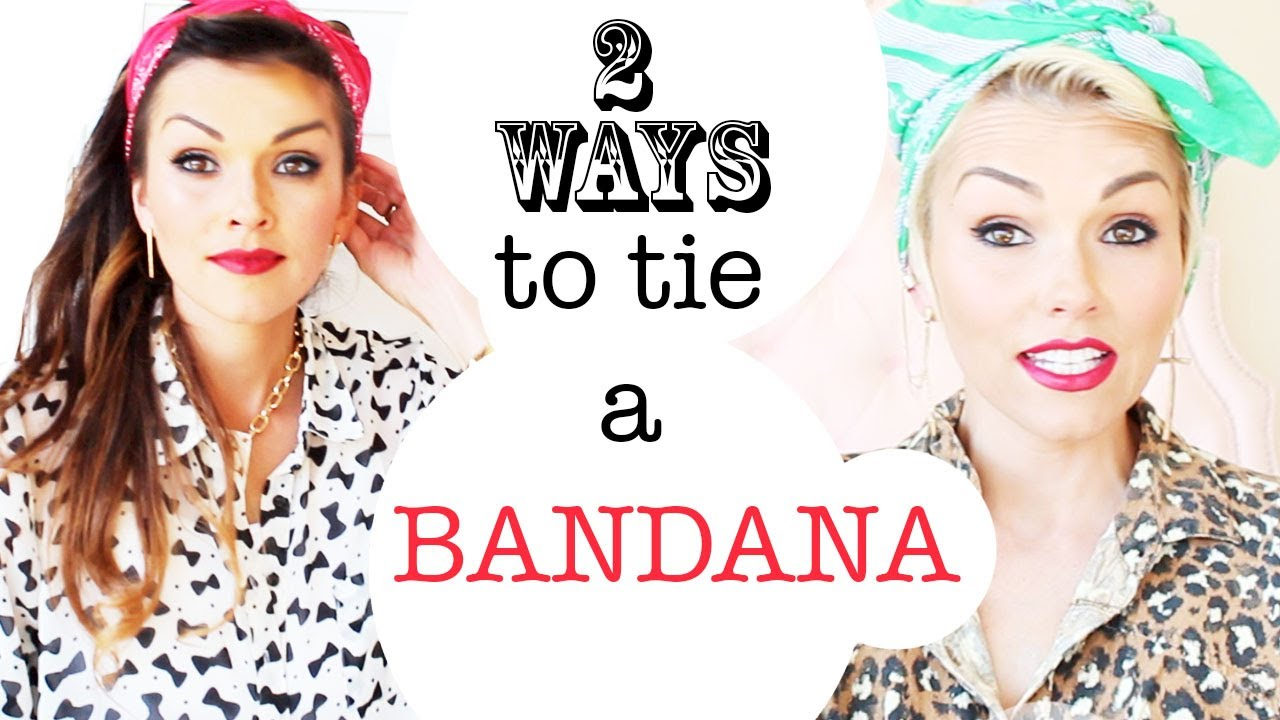 How To Tie A Bandana 2 Ways in Your Hair