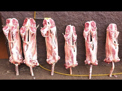 WOW! Whole Sheep POPSICLES in Morocco   CRAZY Street Food MEAT Tour in Marrakech!