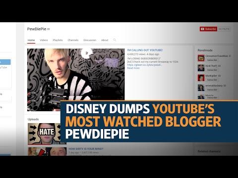 Disney dumps PewDiePie over anti-Semitic videos: report