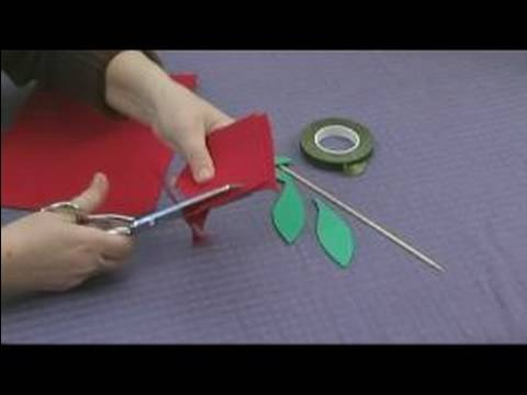 Foam Flower Crafts for Kids : Making Rose Petals for Kids' Crafts Video
