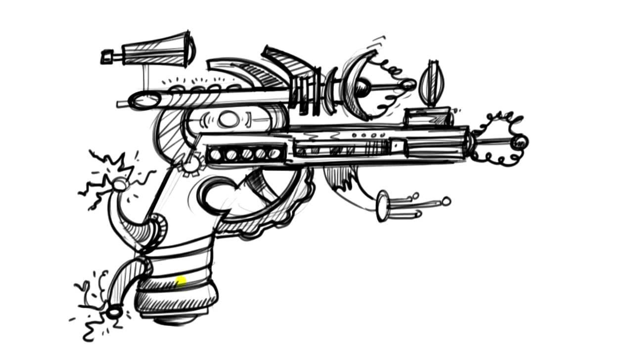 Things to draw when you 39 re bored alien ray gun youtube for How to draw something cool on your hand