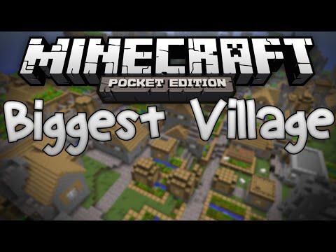 MASSIVE VILLAGE SEED!!! - Biggest Village in MCPE? - Minecraft Pocket Edition