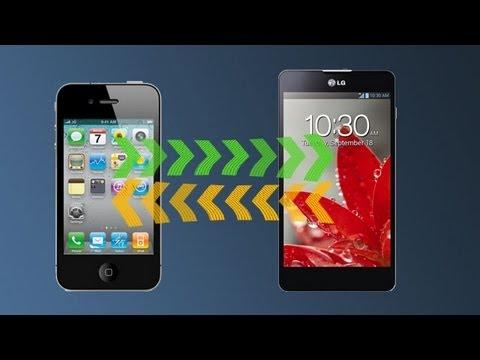 Cómo pasar archivos entre un iPhone y un teléfono Android