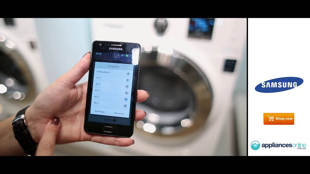 samsung app lets you to control your washing machine with your smartphone appliances online. Black Bedroom Furniture Sets. Home Design Ideas