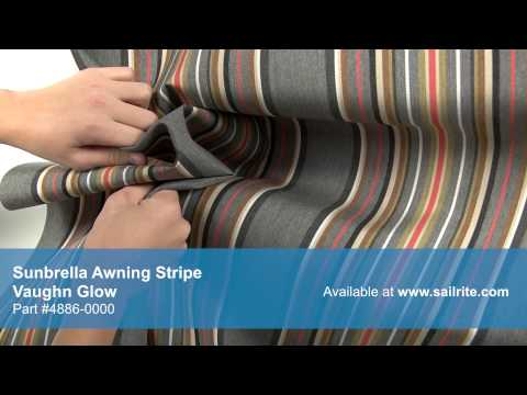 Video of Sunbrella Vaughn Glow Awning Stripe Fabric #4886-0000