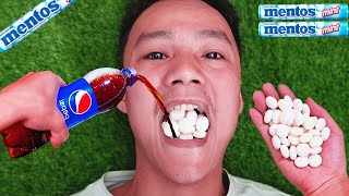 Coca Cola, Different Fanta, Mtn Dew, Pepsi, Sprite and mouth vs Mentos in Big Underground