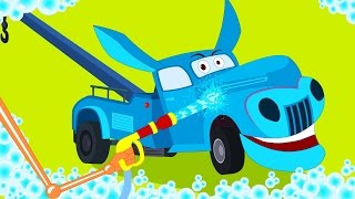 tow truck | car wash | Children's cartoon car video | animal vehicles for kids