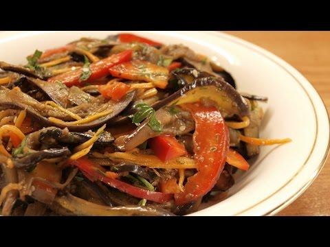 Баклажаны по-корейски / Homemade Korean style eggplant ♡ English subtitles