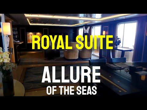Allure of the Seas - Tour of the Royal Suite