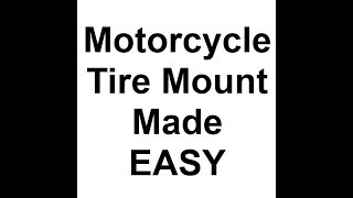 Motorcycle Tire Mounting with MotoZipp Zip Ties