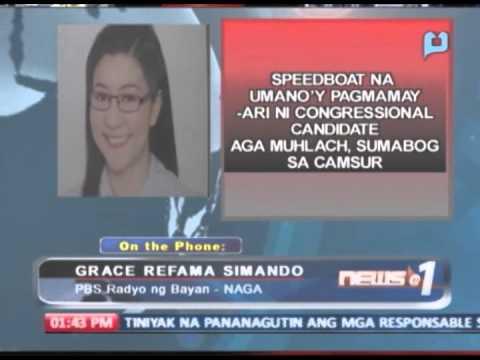 Speedboat na pagmamay-ari ni Congressional candidate Aga Muhlach, sumabog sa CamSur