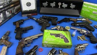 Airsoft Black & Silver Revolvers ! Box of Gun Toys