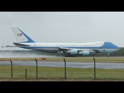 AIR FORCE ONE Departs Prestwick Airport July 2018 | USAF Boeing VC25A | President Trump UK Visit