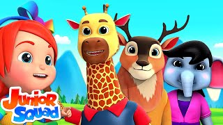 Zoo Song For Children | Animal Sound Song | Nursery Rhymes For kids By Junior Squad