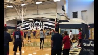 LONZO BALL THROWS ALLEY OOP PASS to ZION WILLIAMSON during PELICANS PRACTICE!