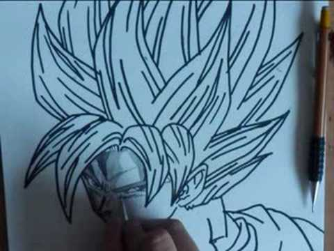 drawing goku ssj (super saiya-jin)
