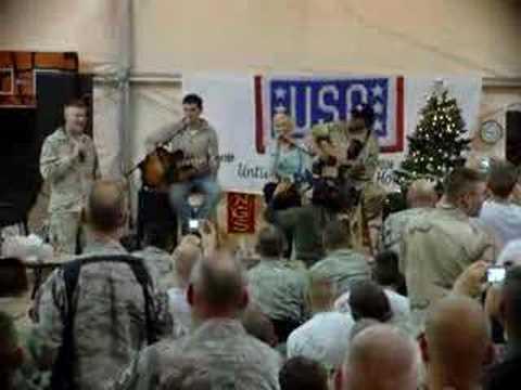 Kellie Pickler - Red High Heels - Baghdad, Iraq