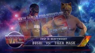 【IWGP Jr ヘビー級王座戦】BUSHI VS Tiger Mask 新日本プロレス会場 WWE2K17
